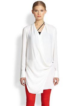 morse-draped-wrap-blouse by helmut-lang