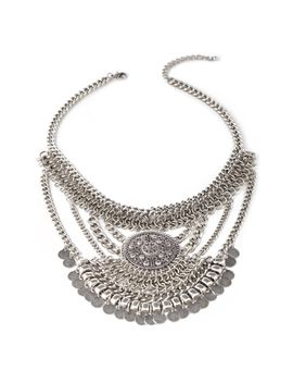coin-fringe-pendant-necklace by forever-21