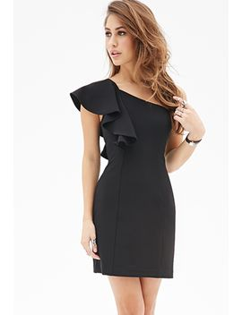 ruffled-one-shoulder-dress by forever-21