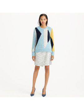 origami-skirt-in-metallic-tweed by jcrew