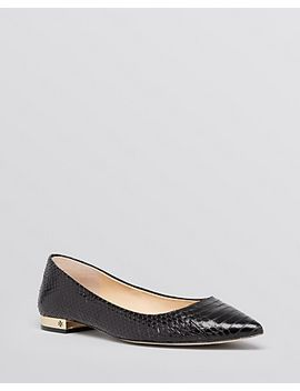 pointed-toe-flats---bedford-snakeskin by tory-burch