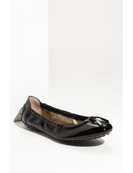 bow-trim-patent-leather-flat by tods