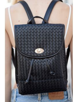 braided-leather-backpack by brandy-melville