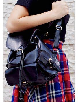 foldover-buckled-backpack---black by lookbook-store