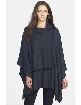cashmere-turtleneck-poncho by eileen-fisher
