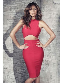 cut-out-midi-dress-red by missguided