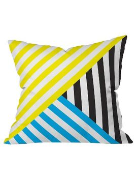 wave-tricolor-throw-pillow---deny-designs® by deny-designs