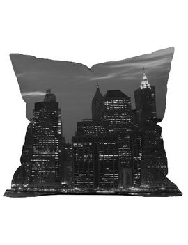 graphite-new-york-financial-district-throw-pillow---deny-designs® by deny-designs