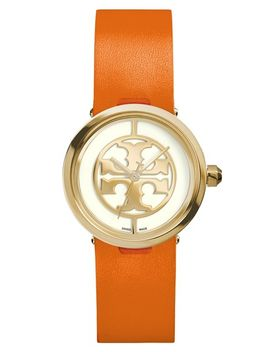 reva-logo-dial-leather-strap-watch,-28mm by tory-burch