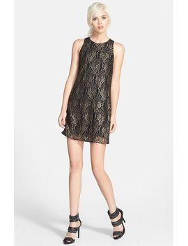 astr-foiled-lace-shift-dress by astr-the-label