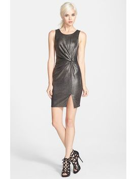 astr-knot-front-metallic-dress by astr-the-label
