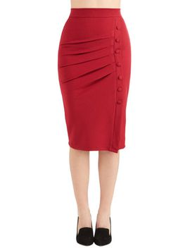 a-trip-into-town-pencil-skirt-in-cherry by modcloth