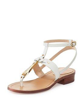 acadia-flat-vachetta-sandal,-off-white by pour-la-victoire