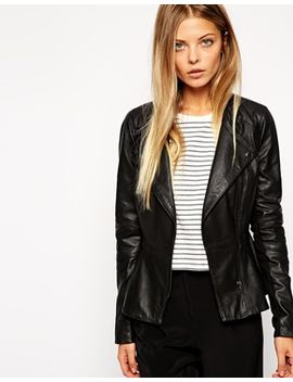 asos-leather-jacket-with-pephem by asos-collection
