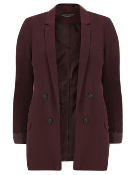 wine-double-breasted-blazer by dorothy-perkins