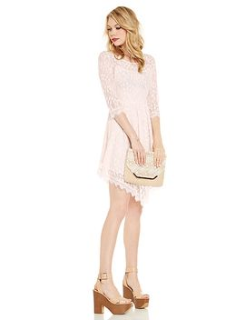 dailylook-eyelash-lace-fit-and-flare-dress by dl