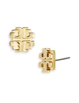 large-logo-stud-earrings by tory-burch