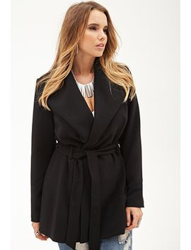 belted-shawl-collar-coat by forever-21