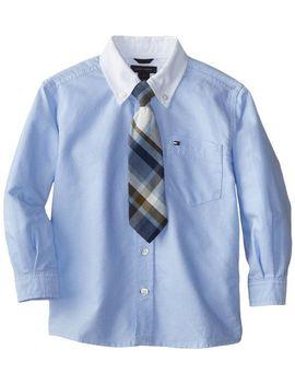 tommy-hilfiger-little-boys-long-sleeve-oxford-warren-with-tie,-oxford-blue,-4-regular by tommy-hilfiger