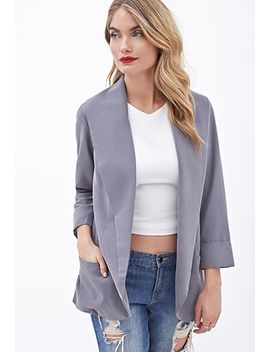 oversized-shawl-collar-blazer by forever-21
