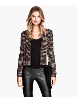 jacket-in-bouclé-yarn by h&m