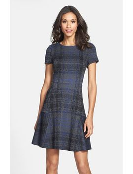 print-ponte-fit-&-flare-dress by betsey-johnson