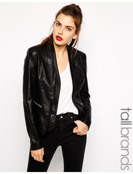 new-look-tall-leather-look-blazer by new-look-tall