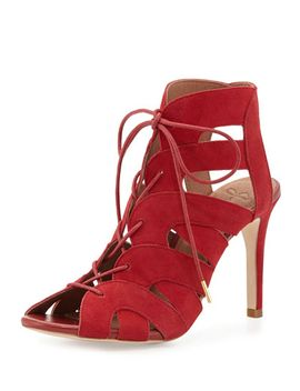 bonnie-suede-lace-up-bootie,-red by joie