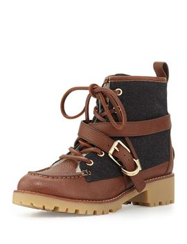 samson-mixed-media-lace-up-bootie by tory-burch