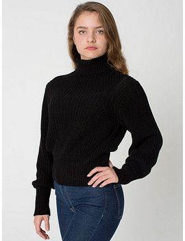 womens-mock-neck-pullover by american-apparel