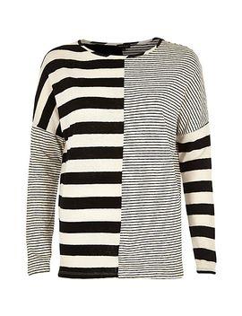black-contrast-stripe-long-sleeve-top by river-island