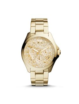 cecile-multifunction-gold-tone-stainless-steel-watch by fossil