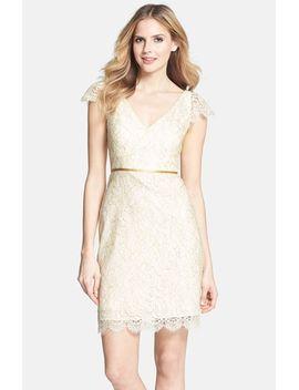 bridgitte-cap-sleeve-lace-sheath-dress by jenny-yoo