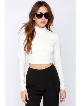 lulus-exclusive-the-real-zeal-ivory-long-sleeve-crop-top by lulus