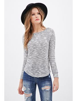 sparkling-marled-knit-sweater by forever-21