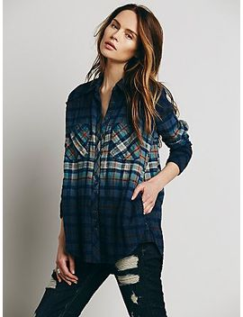 dip-dye-plaid-buttondown by free-people