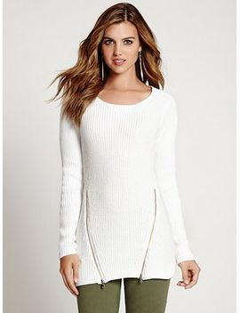long-sleeve-crossover-sweater by guess
