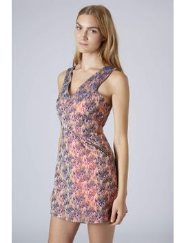 flame-jacquard-shift-dress by topshop