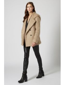 **fluffy-hooded-pea-coat by topshop