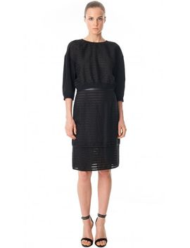 organza-stripe-layered-pencil-skirt by tibi