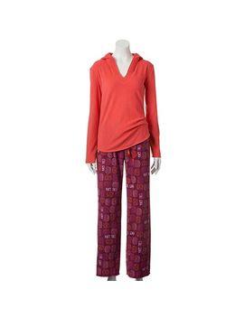 sonoma-life-+-style®-pajamas:-cozy-hooded-microfleece-pajama-set---womens by kohls
