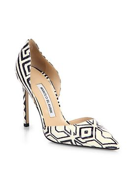 tayler-graphic-print-snakeskin-dorsay-pumps by manolo-blahnik
