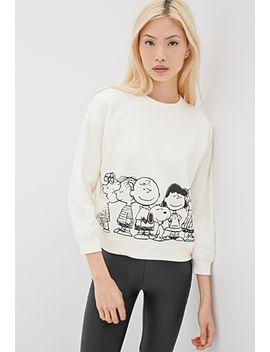 peanuts-raglan-sweatshirt by forever-21