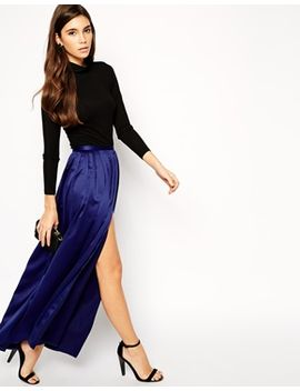 asos-maxi-skirt-with-soft-split by asos-collection