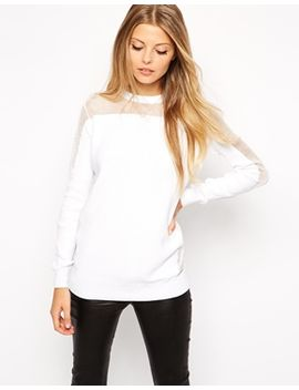 asos-sweater-with-sheer-insert by asos-collection