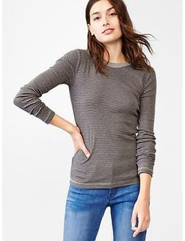 supersoft-stripe-crewneck-tee by gap