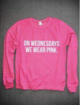 on-wednesdays-we-wear-pink-girls-crew-neck-sweatshirt-jumper by resiliencestreetwear