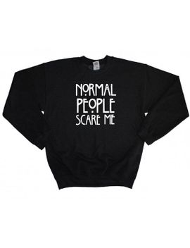 normal-people-scare-me-pull-over-crew-neck-sweatshirt-jumper-cosy-winter-clothing by festivegreens