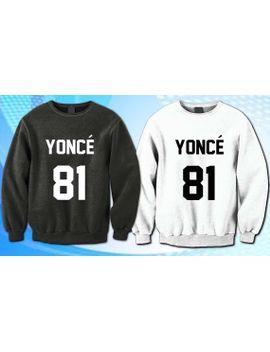 beyonce-yonce-81-sweater-design--sweatshirt-crewneck-men-or-women-unisex-size by estabilished