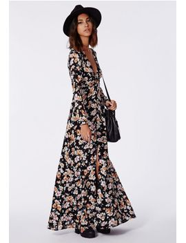 effie-button-down-maxi-dress-floral by missguided